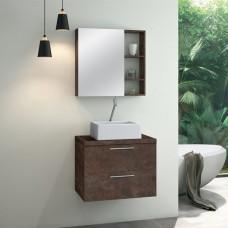 Astral Conjunto Gabinete e Espelho Santorini Corten 60cm Susp c/ cuba