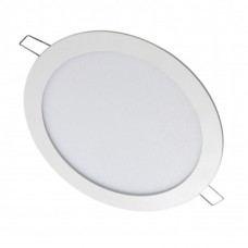LLUM Luminária Painel de Led Redonda de Embutir 24w Bivolt Slim Branca 6500k 30CM