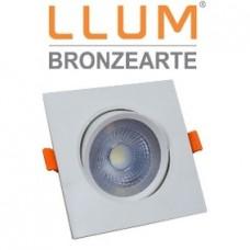 LLUM Spot Led de Embutir Quadrado 5w Easy 3000k Branco