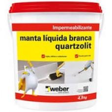 MANTA LIQUIDA BRANCA QUARTZOLIT 4,5 KG